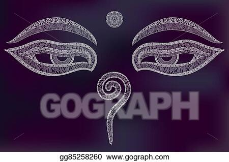 Vector Stock Buddha Eyes Symbol Of Wisdom Clipart Illustration
