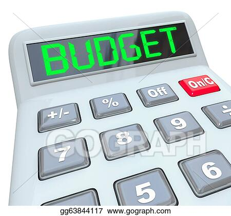 stock illustration budget word calculator home business finances