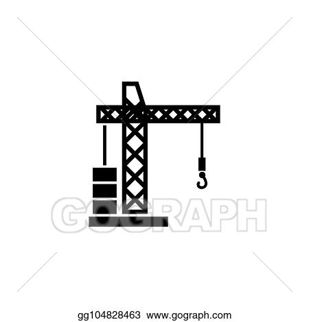 Illustration design building crane symbol. industrial company vector  concept design. vector illustration eps.8 eps.10.