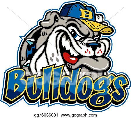 vector stock bulldog baseball mascot stock clip art gg76036081 rh gograph com