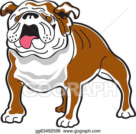 vector clipart bulldog clip art vector illustration gg63492596 rh gograph com  english bulldog clipart free