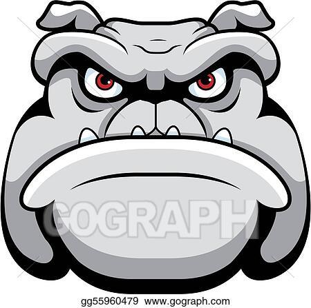Eps Illustration Bulldog Face Vector Clipart Gg55960479 Gograph