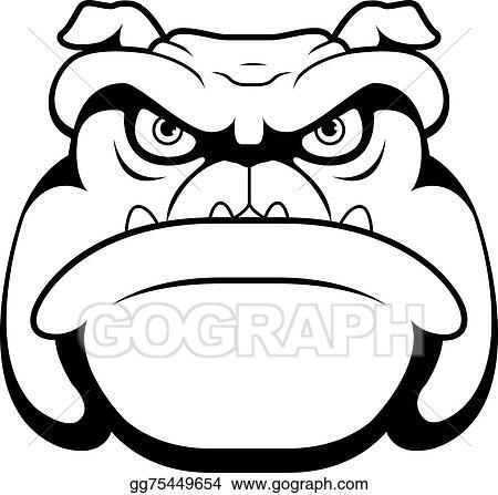 Eps Illustration Bulldog Face Vector Clipart Gg75449654 Gograph