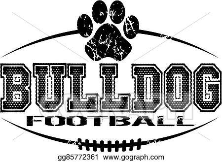 Vector Clipart Bulldog Football Vector Illustration Gg85772361