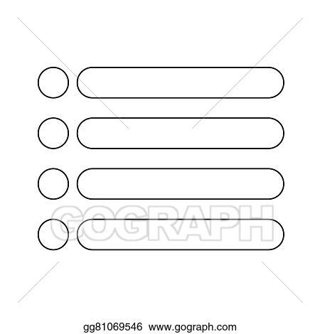 clip art vector bulleted list icon sign stock eps gg81069546