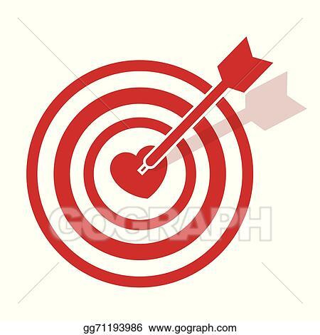 Vector art bullseye heart eps clipart gg71193986 gograph bullseye heart altavistaventures Image collections