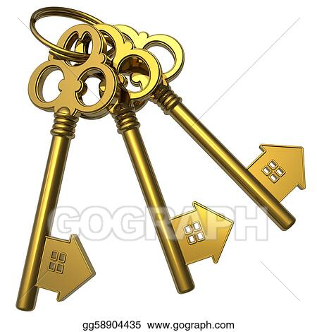 Gold Key Stock Illustrations Royalty Free GoGraph