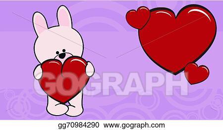Bunny Baby Cartoon Love Wallpaper