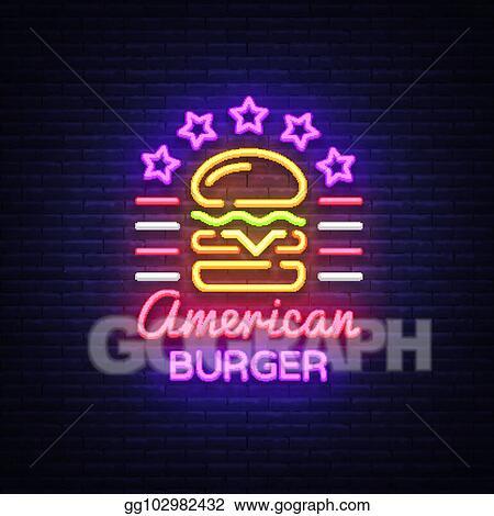 Eps Illustration Burger Logo Vector American Burger Design