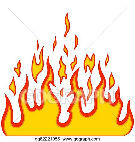Vector Art Burn Flame Fire Vector Background Clipart