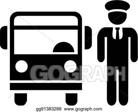 Vector Clipart Bus Driver Icon Vector Illustration