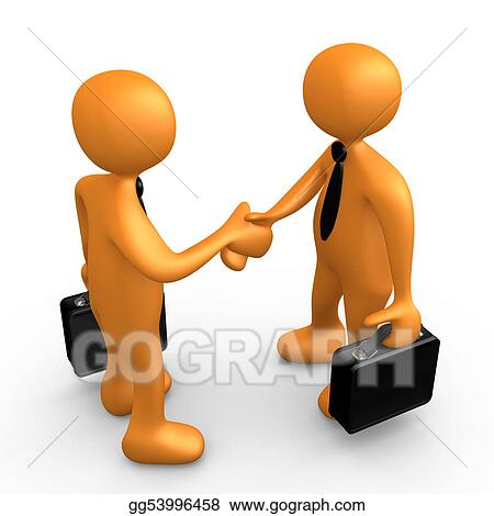 Drawing Business Agreement Clipart Drawing Gg53996458 Gograph