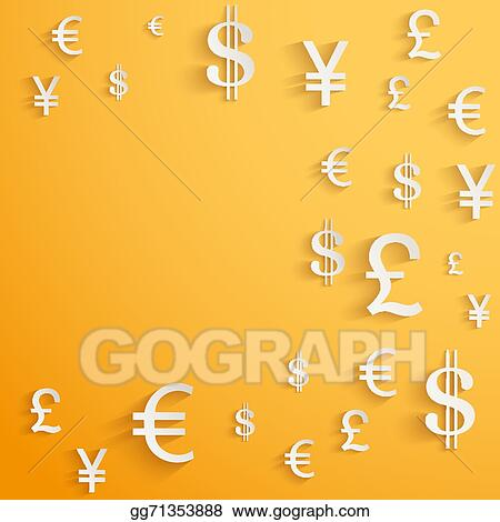 Vector Clipart - Business background with money currency