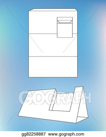 Clip art vector business card display box product display box product display box with blueprint layout business card holder and malvernweather Images