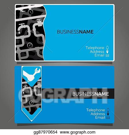 Business Card For Repair Waterpipe