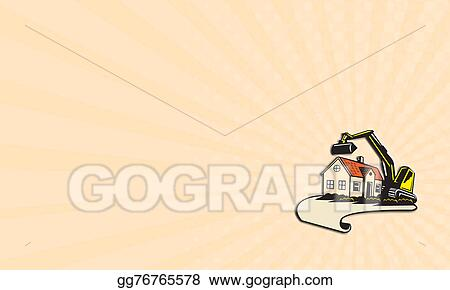 Stock illustration business card house demolition building removal business card house demolition building removal colourmoves