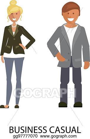 Vector Clipart - Business casual style. Vector Illustration ... e3700e379