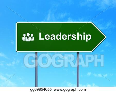 Drawing - Business concept: leadership and business people