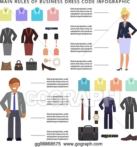1c675231 Vector Stock - Business dress code infographic. Clipart Illustration ...