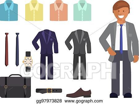 Vector Illustration - Business dress code infographics. EPS Clipart ... 6df1bf7ec