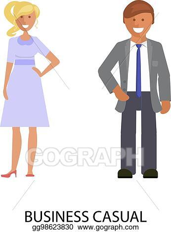 eba2f132a1d7 Vector Clipart - Business dress code. Vector Illustration gg98623830 ...