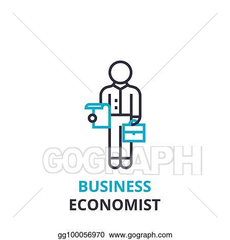 Vector stock business economist concept outline icon linear business economist concept outline icon linear sign thin line pictogram logo flat vector illustration ccuart Images