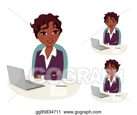 Vector Art Business Evaluation Confident Business Woman