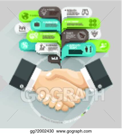 clip art vector business handshake and bubble speech template