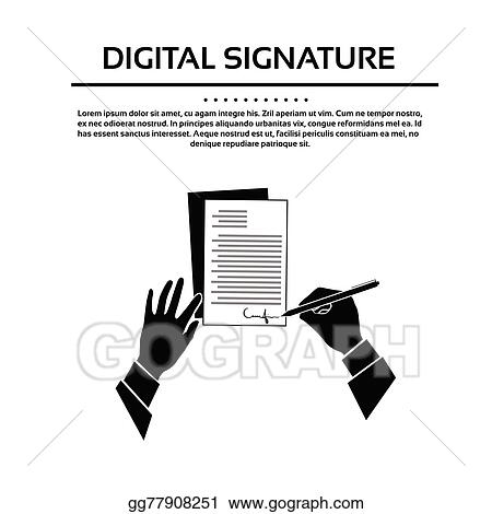 Vector Stock Business Man Document Signature Black Hands