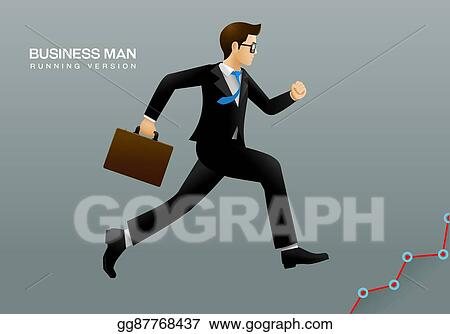 vector illustration business man running eps clipart gg87768437 gograph gograph