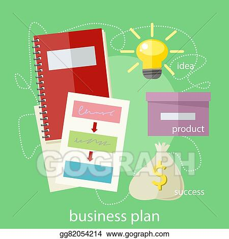 vector stock business plan concept clipart illustration