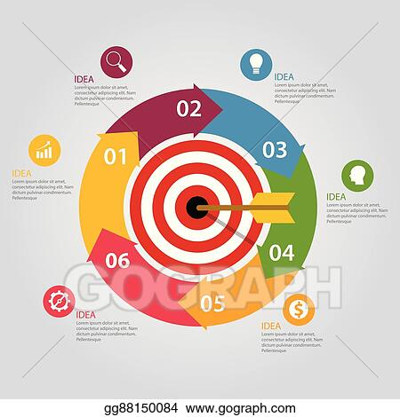 Clip art vector business target infographic dart board arrow business target infographic dart board arrow concept of goals achievement world map gumiabroncs Image collections