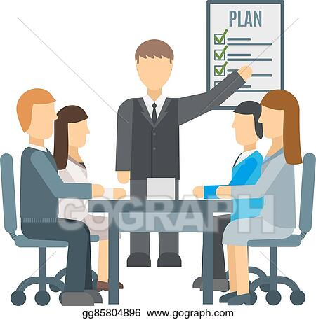 vector clipart business training vector illustration vector rh gograph com