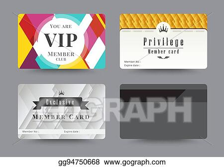 EPS Vector - Business vip member cards design template. vector ...