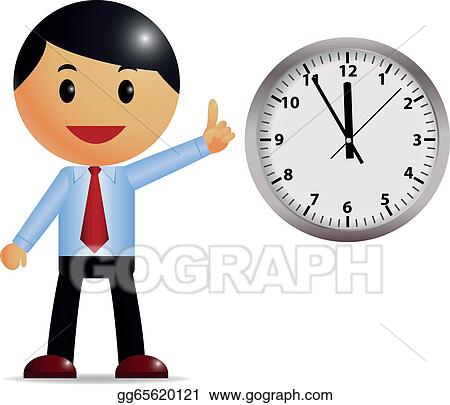 vector art businessman with time management clipart drawing rh gograph com time management clipart free time management clipart illustrations