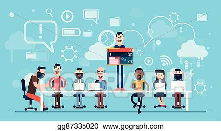 Vector Stock Businesspeople Web Designer Team Working Workplace Stock Clip Art Gg87335020 Gograph