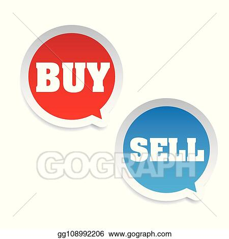 Vector Illustration - Buy sell trading tag  EPS Clipart