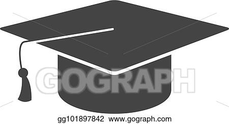 vector clipart bw icons graduation hat vector illustration rh gograph com clipart graduation cap 2017 clipart graduation hat