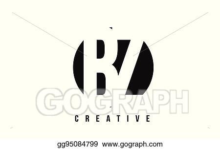 Vector Clipart Bz B Z White Letter Logo Design With Circle