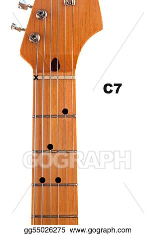 Clip Art - C7 guitar chord diagram. Stock Illustration gg55026275 ...