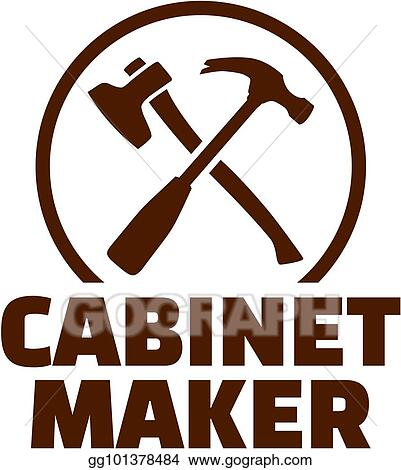Vector Art Cabinetmaker With Crossed Carpenter Tools Eps Clipart