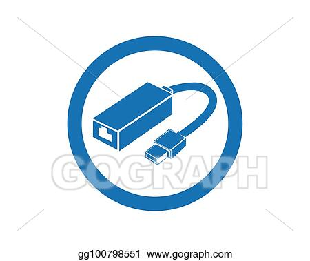 Vector Stock - Cable wire computer and plug icons set. Stock Clip ...