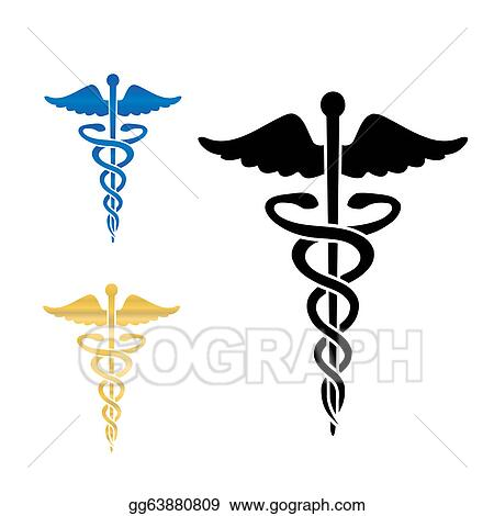 eps illustration caduceus medical symbol vector illustration rh gograph com Large Caduceus Symbol Clip Art Large Caduceus Symbol Clip Art