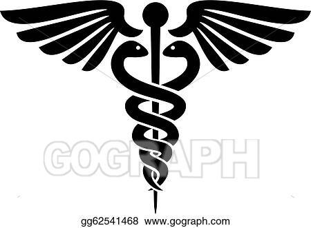 Vector Illustration Caduceus Medical Symbol Eps Clipart