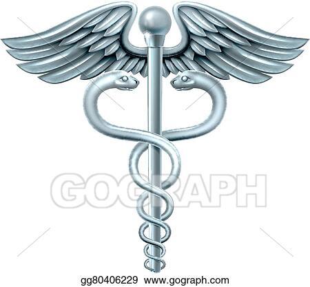 Clip Art Vector Caduceus Symbol Stock Eps Gg80406229 Gograph