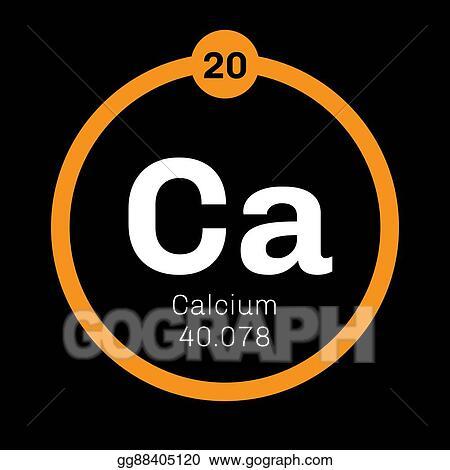 Eps Illustration Calcium Chemical Element Vector Clipart