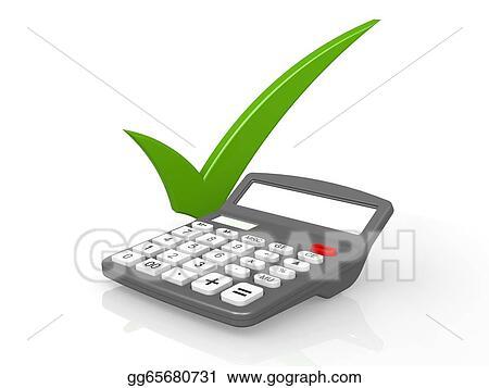Clip Art Calculator And Credit Card Stock Illustration Gg65680731