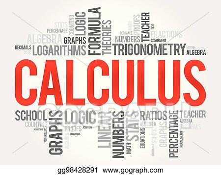 vector illustration calculus word cloud collage education concept