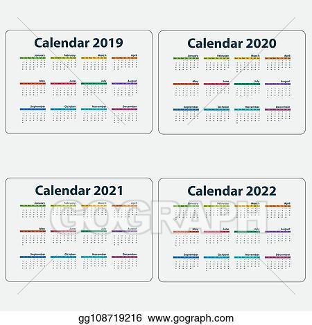 Modele De Calendrier 2020.Vector Art Calendar 2019 Calendar 2020 Calendar 2021 And