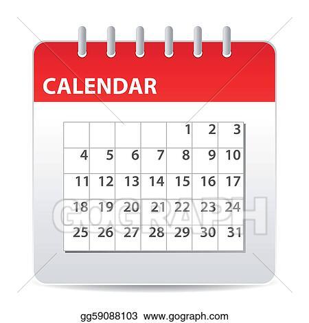 vector stock calendar icon stock clip art gg59088103 gograph